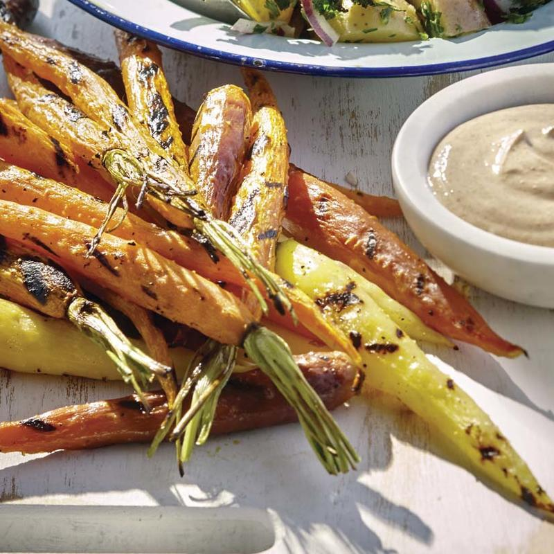 Super Simple Spicy Grilled Carrots