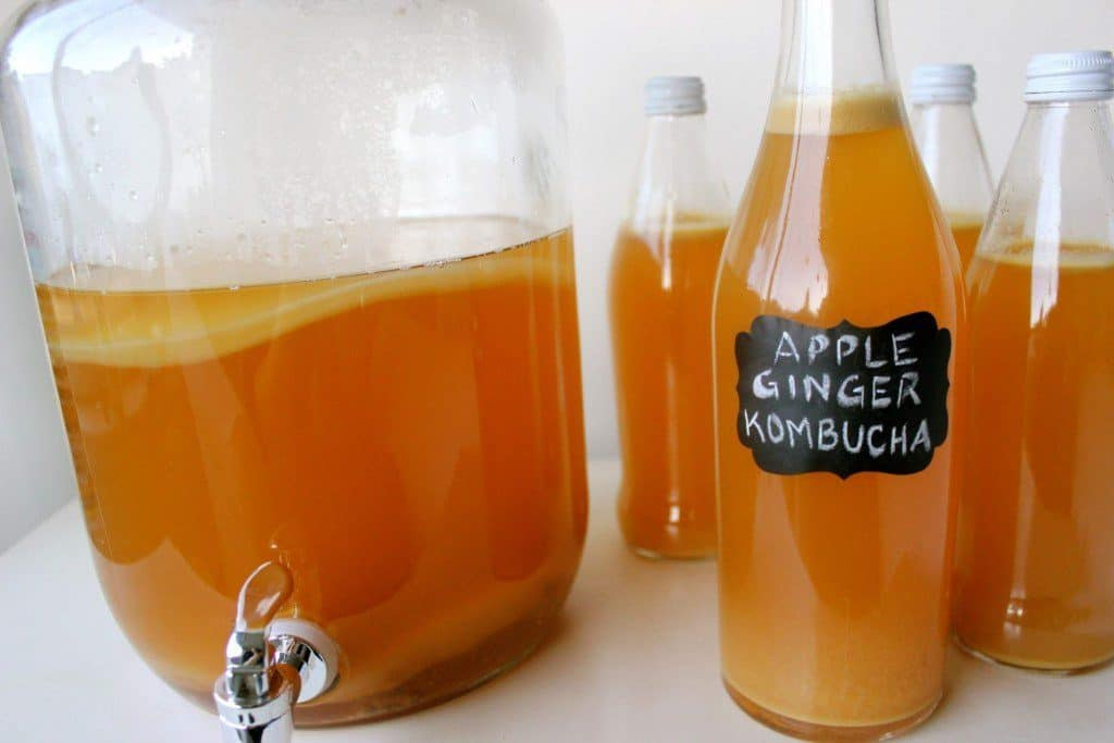 How to make the kombucha in an excellent two-stage fermentation process